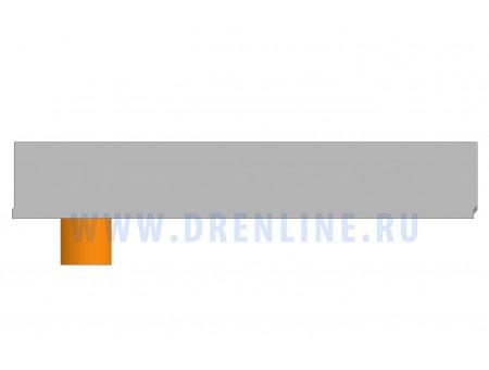 Лоток водоотводный бетонный DRENLINE Standart DN100 h145  с вертикальным водосливом