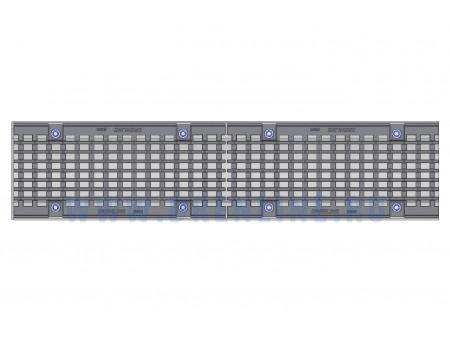 Лоток водоотводный бетонный DRENLINE Super DN150 h210 с решеткой чугунной ВЧ (комплект) кл. Е600