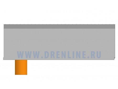 Лоток водоотводный бетонный DRENLINE Super DN150 h310  с решеткой чугунной ВЧ (комплект) кл. Е600 с вертикальным водосливом
