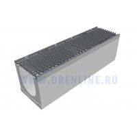 Лоток водоотводный бетонный DRENLINE Super DN200 h280 с решеткой чугунной ВЧ (комплект) кл. Е600