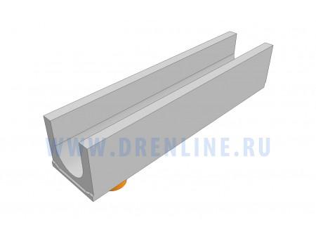 Лоток водоотводный бетонный DRENLINE Standart DN150 h190 с вертикальным водосливом