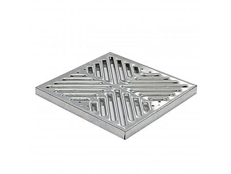 Решетка штампованная оцинкованная для дождеприемника 300х300