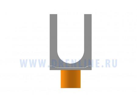 Лоток водоотводный бетонный DRENLINE Standart DN150 h255 с вертикальным водосливом