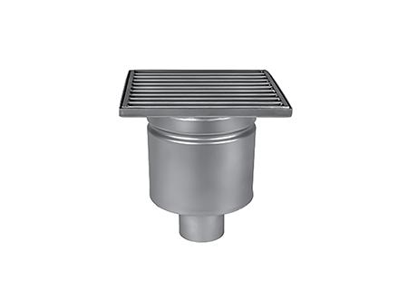 Трап MINI Wm150/50V1 однокорпусной с вертикальным отводом DN50(в комплекте с сифоном, ситом и решеткой)