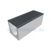 Лоток водоотводный бетонный DRENLINE Super DN400 h400 - 500 с решеткой чугунной ВЧ (комплект) кл. Е600